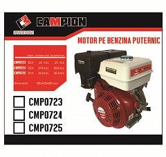 Motor pe benzina 188F 15CP ax 25mm CAMPION [1]