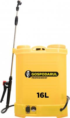 Pompa de stropit GOSPODARUL PROFESIONIST - capacitate 16L, cu baterie [0]