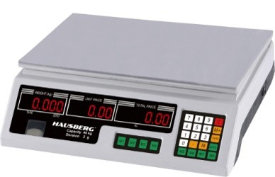 Cantar electronic comercial HAUSBERG HB-6060, ecran dublu, 40kg [0]
