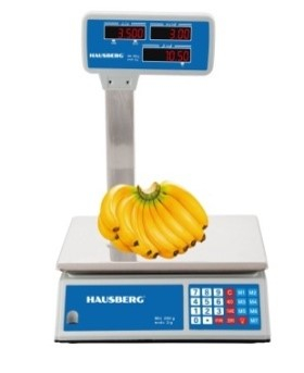 Cantar electronic comercial HAUSBERG HB-6063, ecran dublu, 40kg [0]