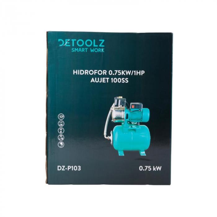 Hidrofor 0,75kw/1hp AUJET 100SS, bobinaj cupru, DEETOOLZ [6]
