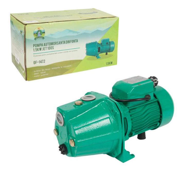 Pompa apa hidrofor autoamorsanta fonta 1,5kw AUTOJET 100S MICUL FERMIER [3]