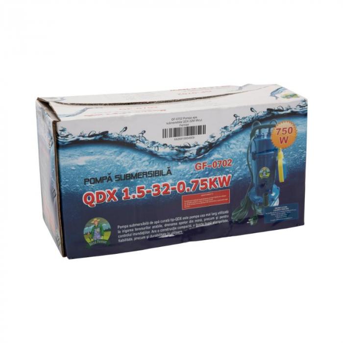 Pompa apa submersibila 750w, 32m, 1500l/h , MICUL FERMIER QDX-32M cu flotor [2]