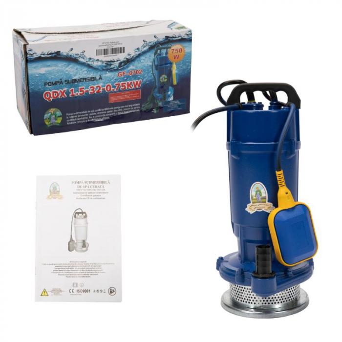 Pompa apa submersibila 750w, 32m, 1500l/h , MICUL FERMIER QDX-32M cu flotor [3]