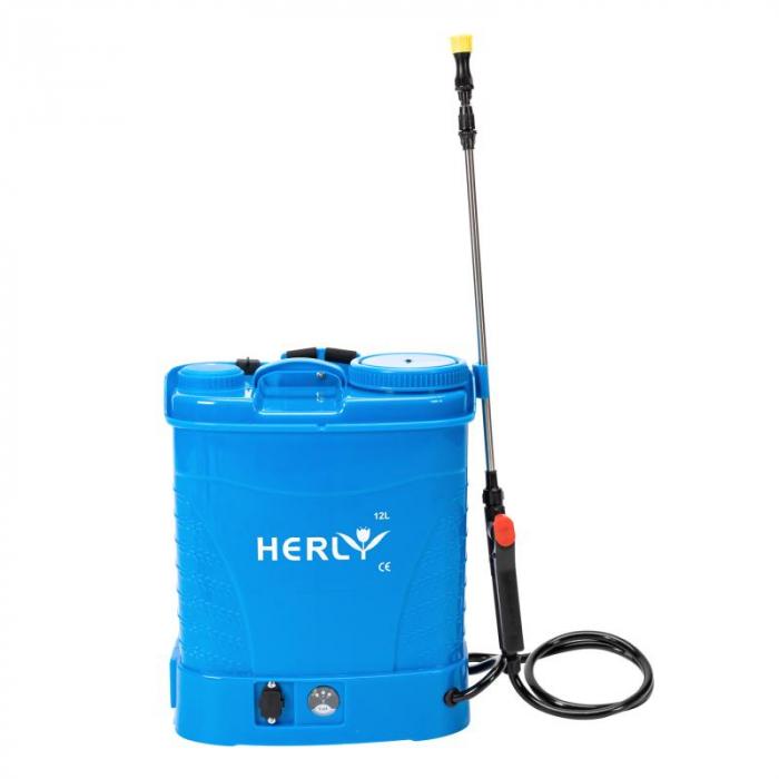 Pompa stropit cu acumulator 12L HERLY (ALBASTRA) [1]