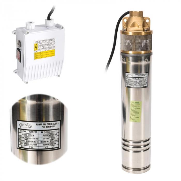 Pompa submersibila 65m PRO 4SKM-100 MF 2.7mc/h [0]