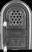 Usa Soba Semineu cu Geam Cerbi Ornamente Argintii 555 mm x 345 mm [0]