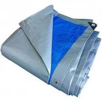 Prelata cu inele 5 X 8 m - 180 g/mp, argintiu-albastru [0]