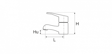 Baterie Aqua bucatarie, cartus ceramic 205X115X105mm [1]