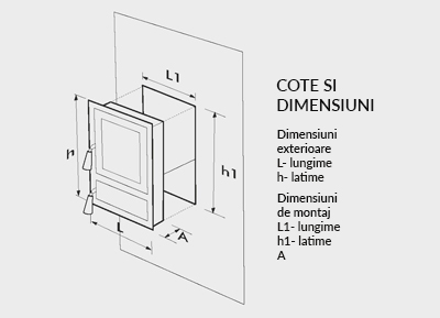 Usa Soba din fonta tip Monobloc cu Geam Motive Romanesti 475x295 mm [1]