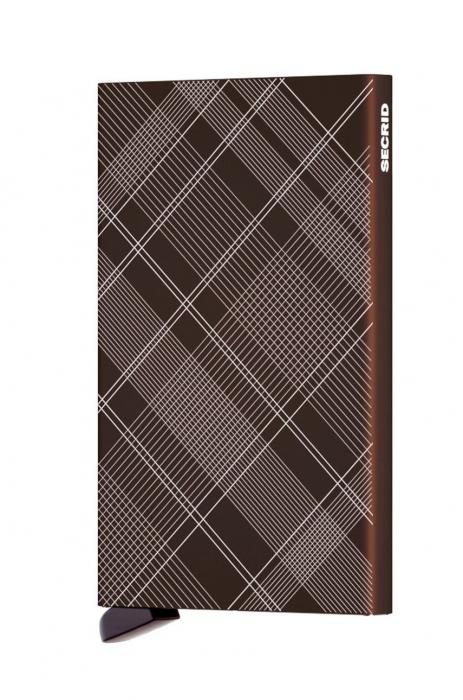 Portcard Laser Tartan Brown-big