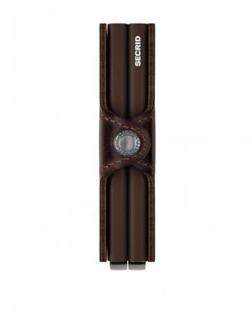 Portofel Dublu Vintage Chocolate1