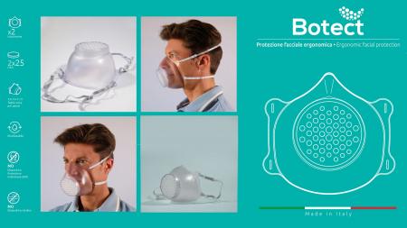 Masca de protectie cu filtru ( 2 masti + 50 filtre) BOTECT2