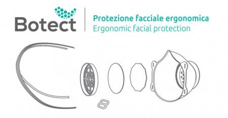 Masca de protectie cu filtru ( 2 masti + 50 filtre) BOTECT6