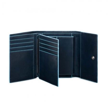 Portofel Dama Blue Square cu Buzunar Monede1