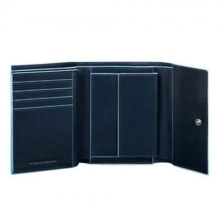 Portofel Dama Blue Square cu Buzunar Monede2