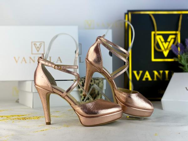 Sandale Fabiana Elegance Sampanie Promo [2]