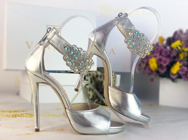 36 Sandale Alina Cristale Silver Promo 0