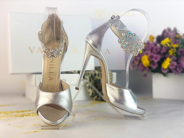 36 Sandale Alina Cristale Silver Promo 1