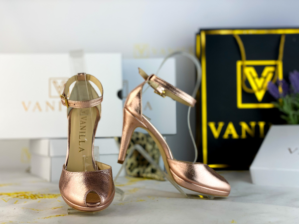 38 Sandale Beijing Sampanie Sifonata Toc Mic Promo 0