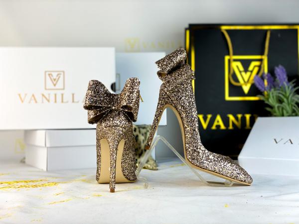 Stiletto Cleopatra Glitter Auriu Promo 1