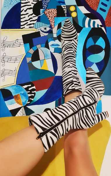 Cizme Teo Zebra 1
