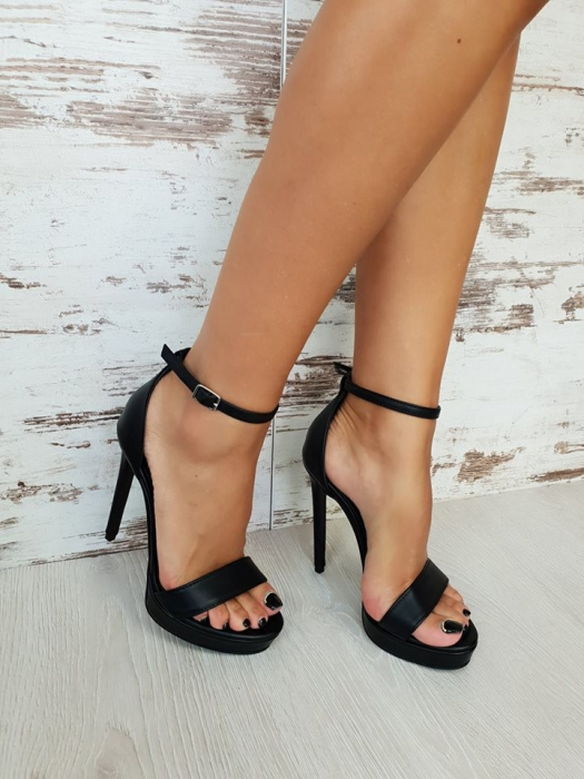 35 Sandale Viena Piele Neteda Toc Inalt Promo [3]