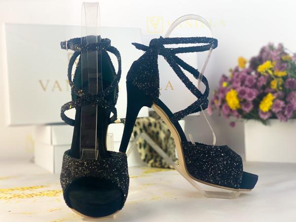 37   Sandale Ada Glitter Sticlos Negru Promo 0