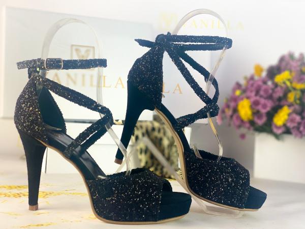 37   Sandale Ada Glitter Sticlos Negru Promo 1