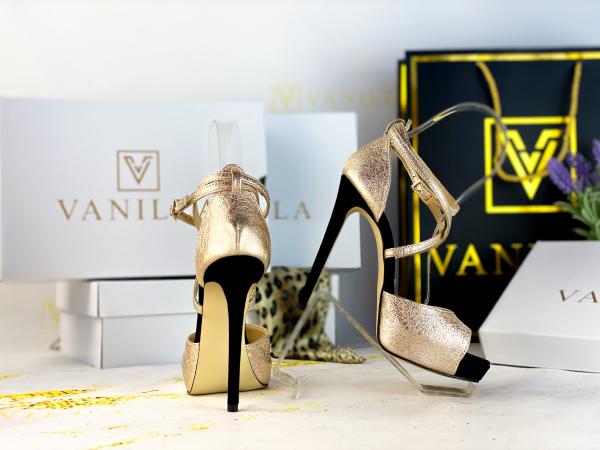 36   Sandale Ada Gold + Camoscio Negru Promo [2]