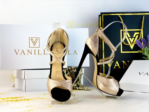 36   Sandale Ada Gold + Camoscio Negru Promo [0]