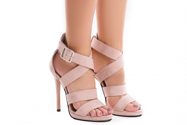 Sandale Andra din piele intoarsa 0
