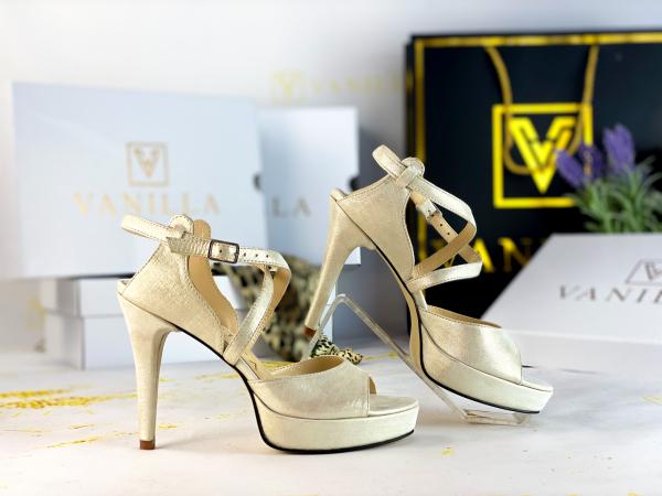 36   Sandale Berna Gri cu Reflexii   Toc Mic Promo 1