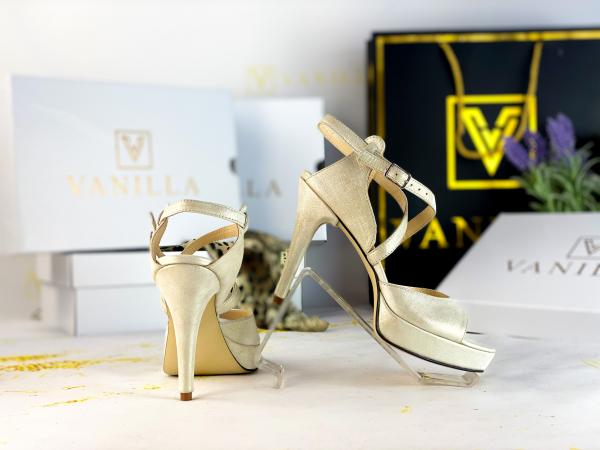 36   Sandale Berna Gri cu Reflexii   Toc Mic Promo 2
