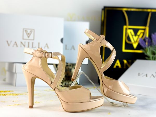 36   Sandale Berna Piele Lacuita Toc Mic Promo 1