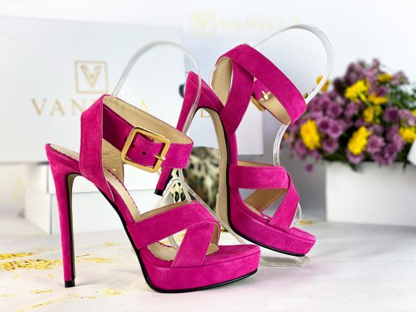 Sandale Dakar Piele Intoarsa Pink Promo [1]