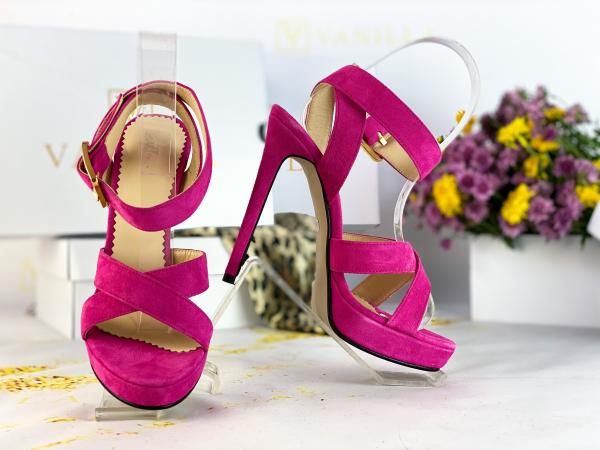 Sandale Dakar Piele Intoarsa Pink Promo [0]