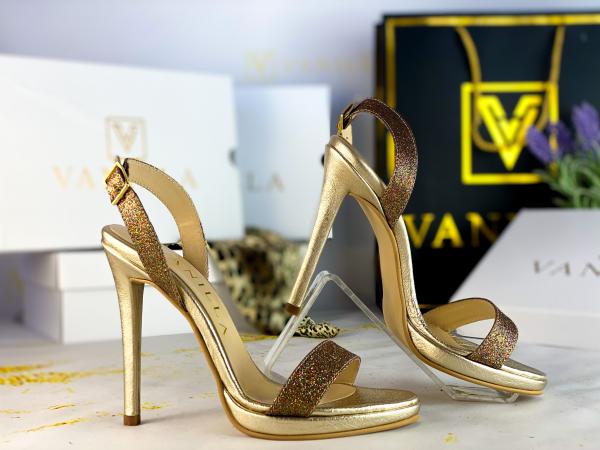 Sandale Paris Glitter Toc Inalt Promo 1