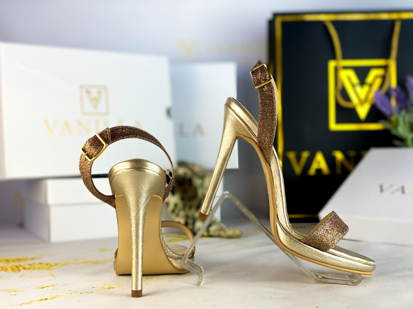 Sandale Paris Glitter Toc Inalt Promo 2