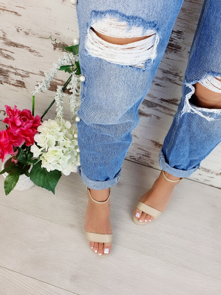 Sandale Viena Piele Neteda Toc Mic 4