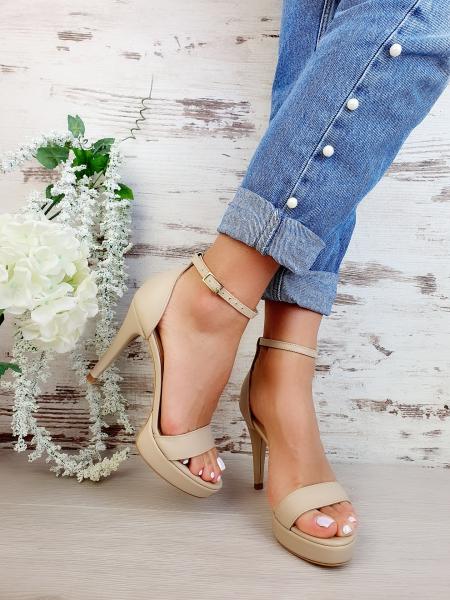 Sandale Viena Piele Neteda Toc Mic 3