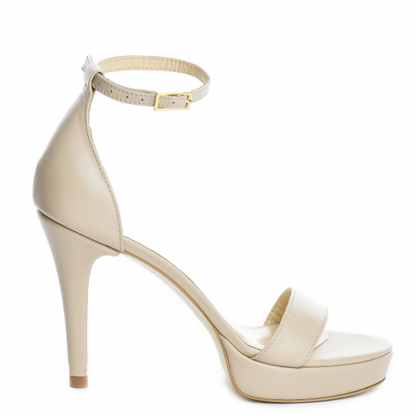 Sandale Viena Piele Neteda Toc Mic 1