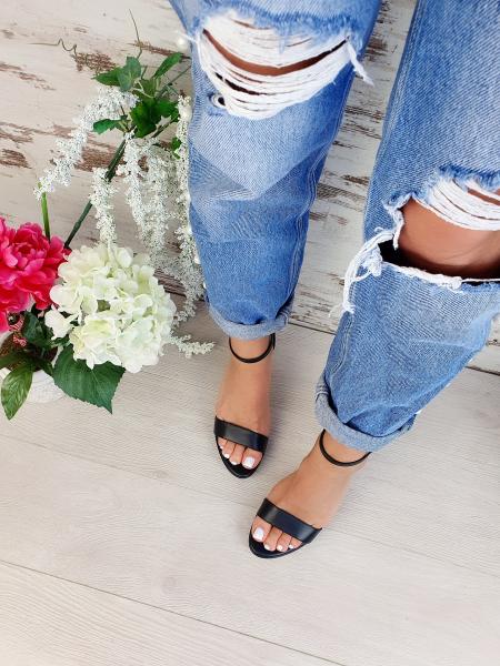 Sandale Viena Piele Neteda Toc Mic 6