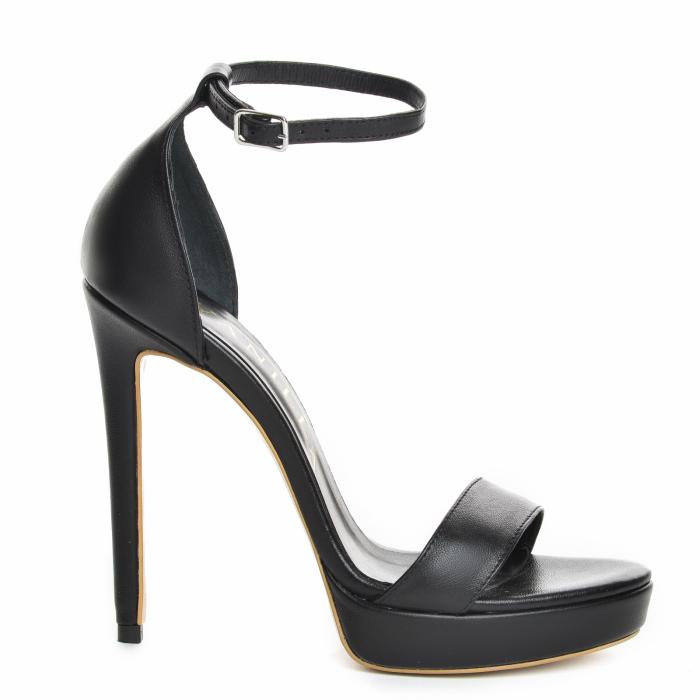35 Sandale Viena Piele Neteda Toc Inalt Promo [2]