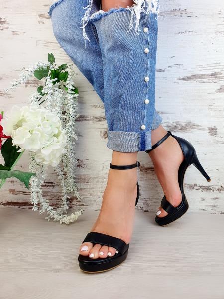 Sandale Viena Piele Neteda Toc Mic 8