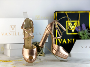 35 Sandale Fabiana Elegance Sampanie Promo [0]