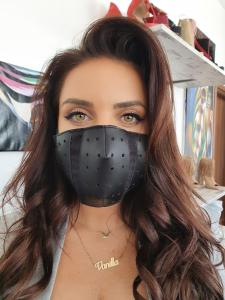 Masca Fashion din Piele, cu filtru, Model KN91