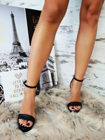 35 Sandale Viena Piele Neteda Toc Inalt Promo [4]