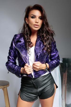Geaca din piele naturala Savona Purple [2]