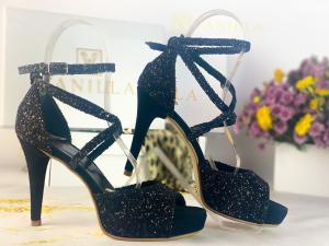37   Sandale Ada Glitter Sticlos Negru Promo1